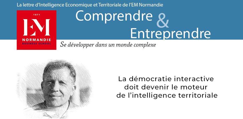 Photo : Jacques Lévy : La démocratie interactive doit devenir le moteur de l'intelligence territoriale