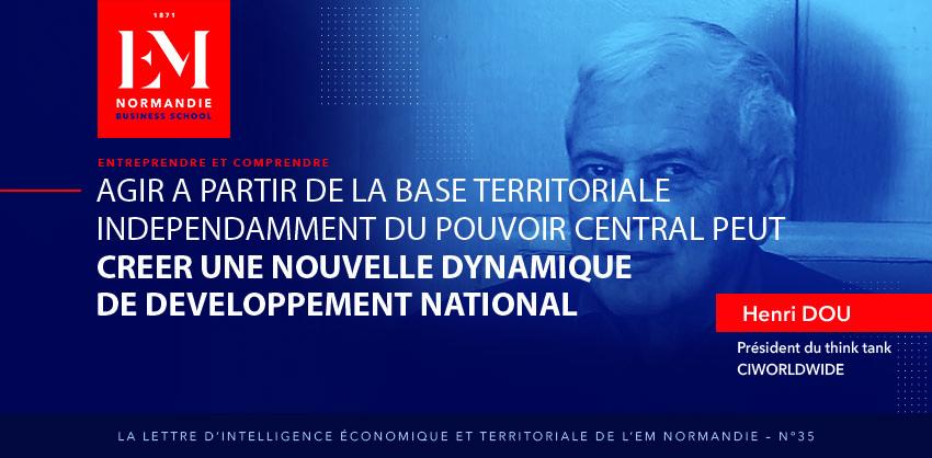 Photo : Henri Dou : Agir à partir de la base territoriale indépendamment du pouvoir central peut créer une nouvelle dynamique de développement national